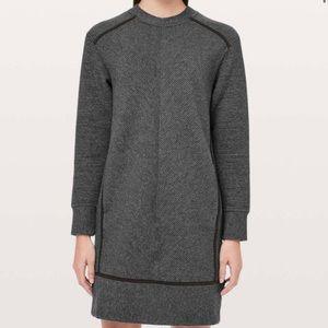 Lululemon On Repeat Grey Black Sweater Dress